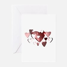 Lots of Hearts Greeting Cards (Pk of 10)