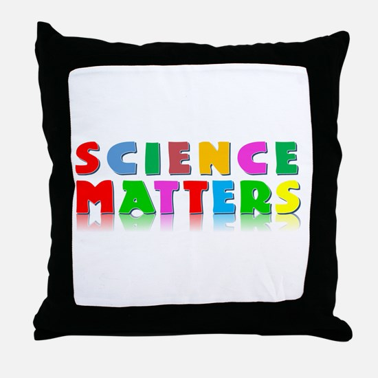Science Matters Throw Pillow