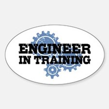 Engineer In Training Sticker (Oval)