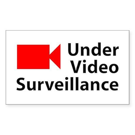 Under Video Surveillance Rectangle Sticker