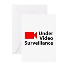 Under Video Surveillance Greeting Cards (Package