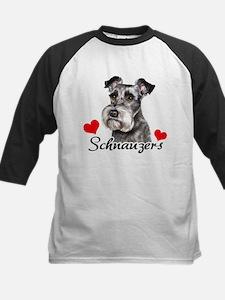 Love Schnauzers Kids Baseball Jersey