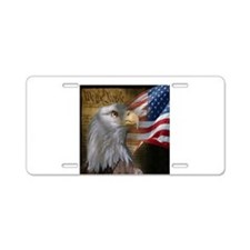 United States Eagle Flag Aluminum License Plate