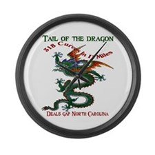 Tail Of The Dragon Large Wall Clock