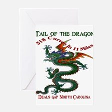 Tail Of The Dragon Greeting Card