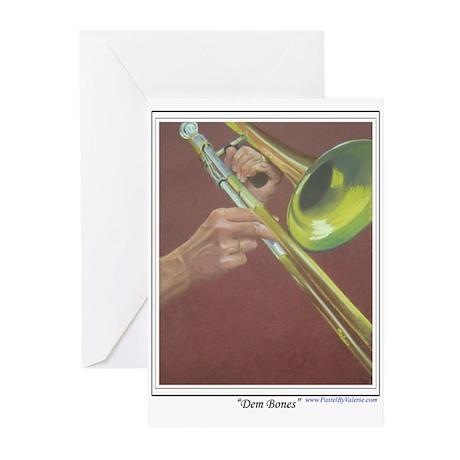 Dem Bones Greeting Cards (Pk of 10)