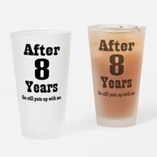 8th Anniversary Funny Quote Drinking Glass