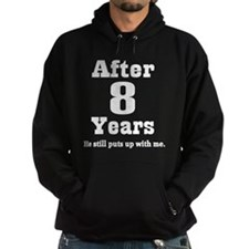 8th Anniversary Funny Quote Hoodie