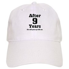 9th Anniversary Funny Quote Baseball Cap