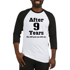 9th Anniversary Funny Quote Baseball Jersey