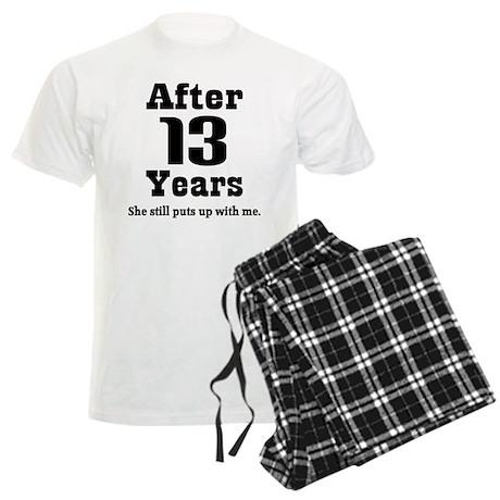 13th Anniversary Funny Quote Men's Light Pajamas