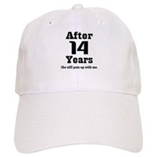 14th Anniversary Funny Quote Baseball Cap