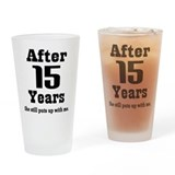 15th anniversary Pint Glasses