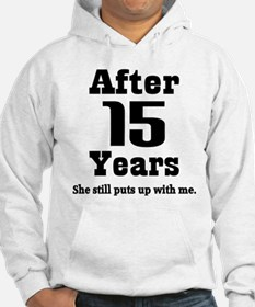 15th Anniversary Funny Quote Hoodie