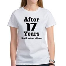 17th Anniversary Funny Quote Tee