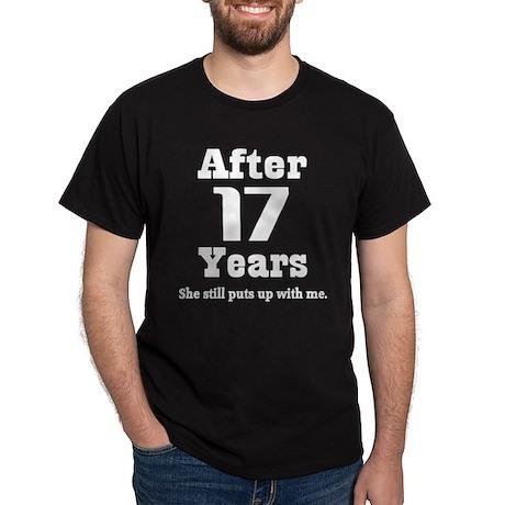 17th Anniversary Funny Quote Dark T-Shirt