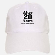 20th Anniversary Funny Quote Baseball Baseball Cap