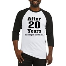 20th Anniversary Funny Quote Baseball Jersey