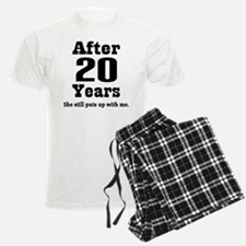 20th Anniversary Funny Quote Pajamas