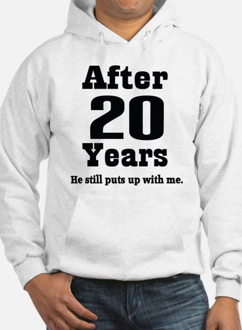 20th Anniversary Funny Quote Hoodie