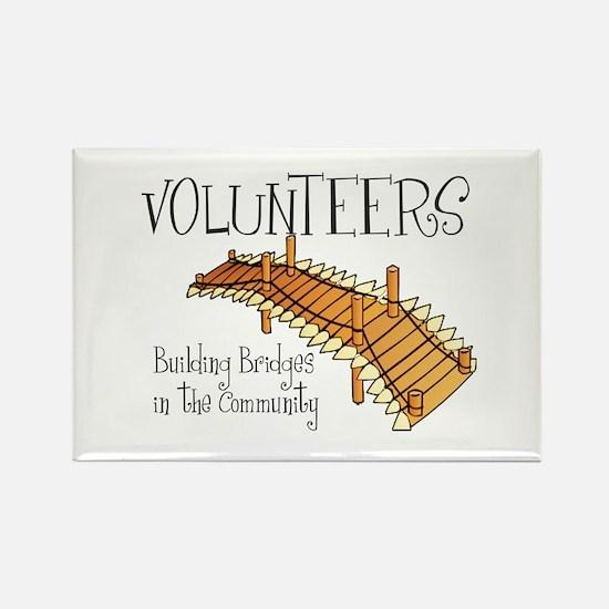 Building Bridges Rectangle Magnet (10 pack)