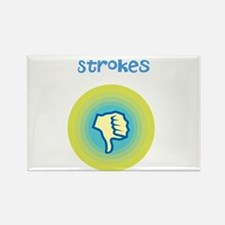 Thumbs Down Strokes Rectangle Magnet