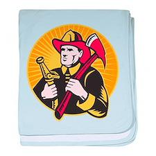 fireman firefighter baby blanket