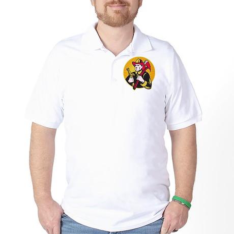 fireman firefighter Golf Shirt
