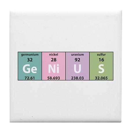 Chemical Genius Tile Coaster