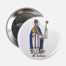 """St. Ambrose 2.25"""" Button (10 pack)"""