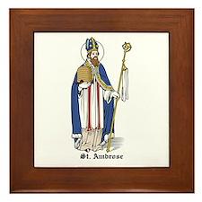 St. Ambrose Framed Tile