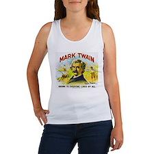Mark Twain Cigar Label Women's Tank Top