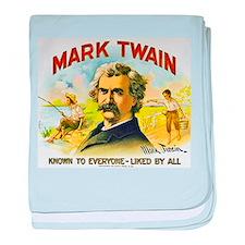 Mark Twain Cigar Label baby blanket