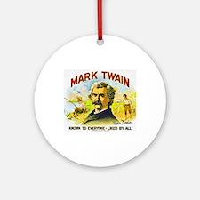 Mark Twain Cigar Label Ornament (Round)