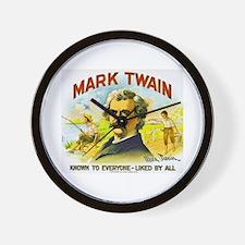 Mark Twain Cigar Label Wall Clock