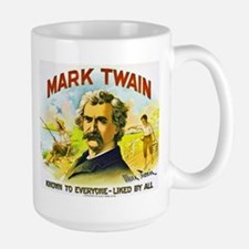 Mark Twain Cigar Label Large Mug