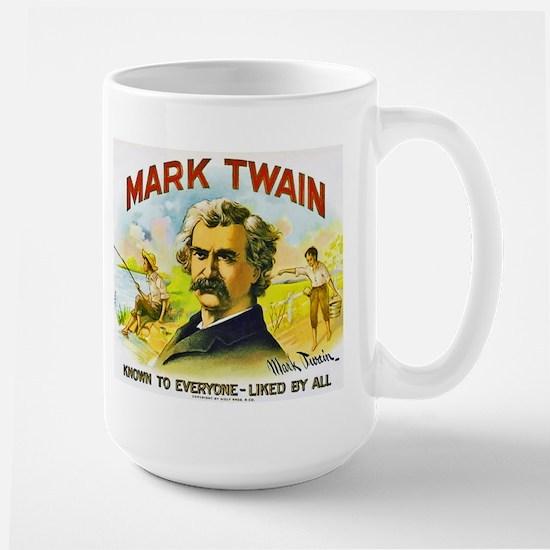 Mark Twain Cigar Label Large Mug
