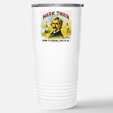 Mark Twain Cigar Label Travel Mug