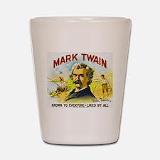 Mark Twain Cigar Label Shot Glass