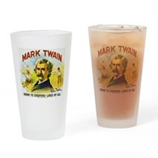 Mark Twain Cigar Label Drinking Glass