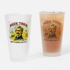 Mark Twain Cigar Label Drinking Glass