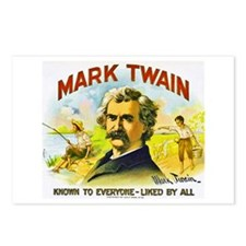 Mark Twain Cigar Label Postcards (Package of 8)