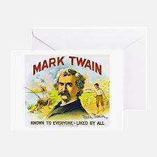 Mark Twain Cigar Label Greeting Card