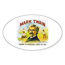 Mark Twain Cigar Label Decal