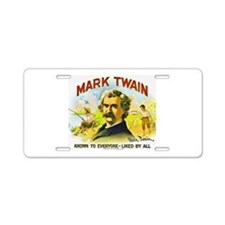 Mark Twain Cigar Label Aluminum License Plate