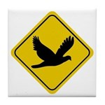 Dove Crossing Sign Tile Coaster