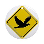 Dove Crossing Sign Ornament (Round)