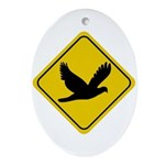 Dove Crossing Sign Oval Ornament