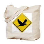 Dove Crossing Sign Tote Bag