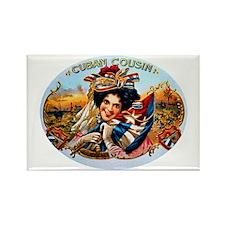 Cuban Cousin Cigar Label Rectangle Magnet